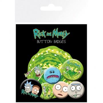 Set Chapas Rick & Morty