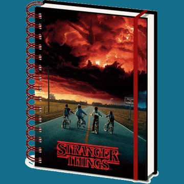 Cuaderno Stranger Things 3D