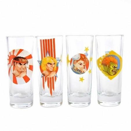 Set 4 vasos de chupitos Street Fighter