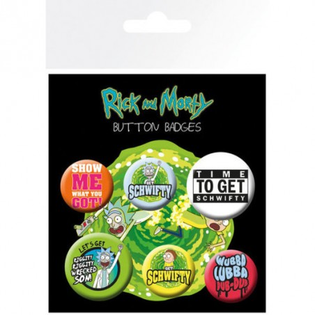 Pack chapas Rick & Morty frases